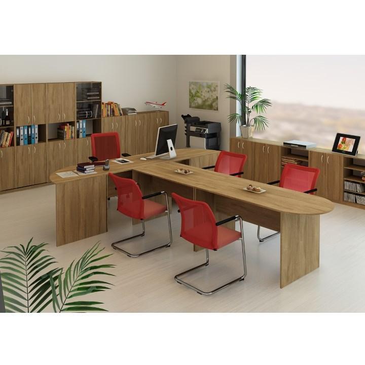 Písací stôl, bardolino tmavé, TEMPO ASISTENT NEW 021 PI, interiér