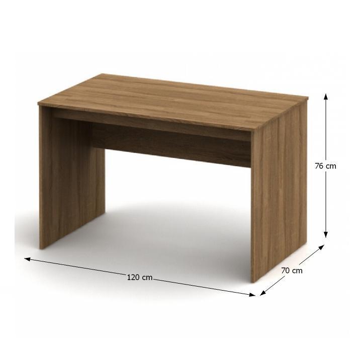 Písací stôl, bardolino tmavé, TEMPO ASISTENT NEW 021 PI, s rozmermi