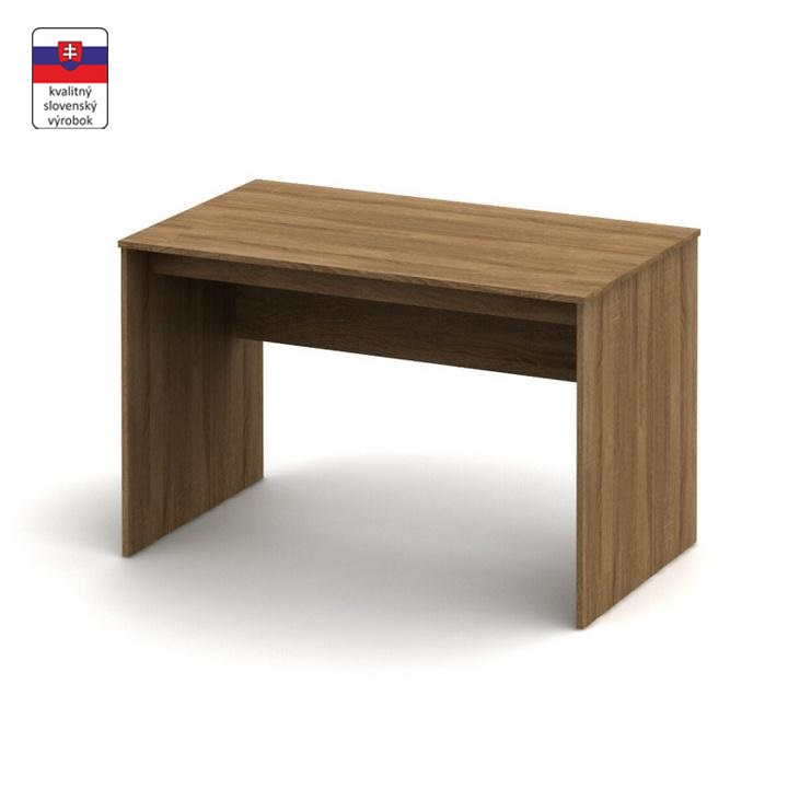 Písací stôl, bardolino tmavé, TEMPO ASISTENT NEW 021 PI, slovenský výrobok