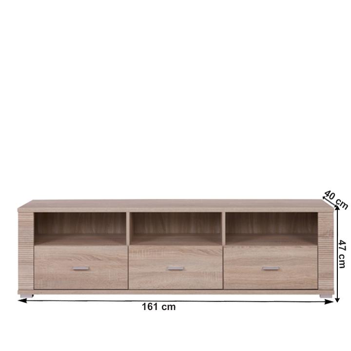 Rtv stolík typ 24, dub sonoma, GRAND, s rozmermi