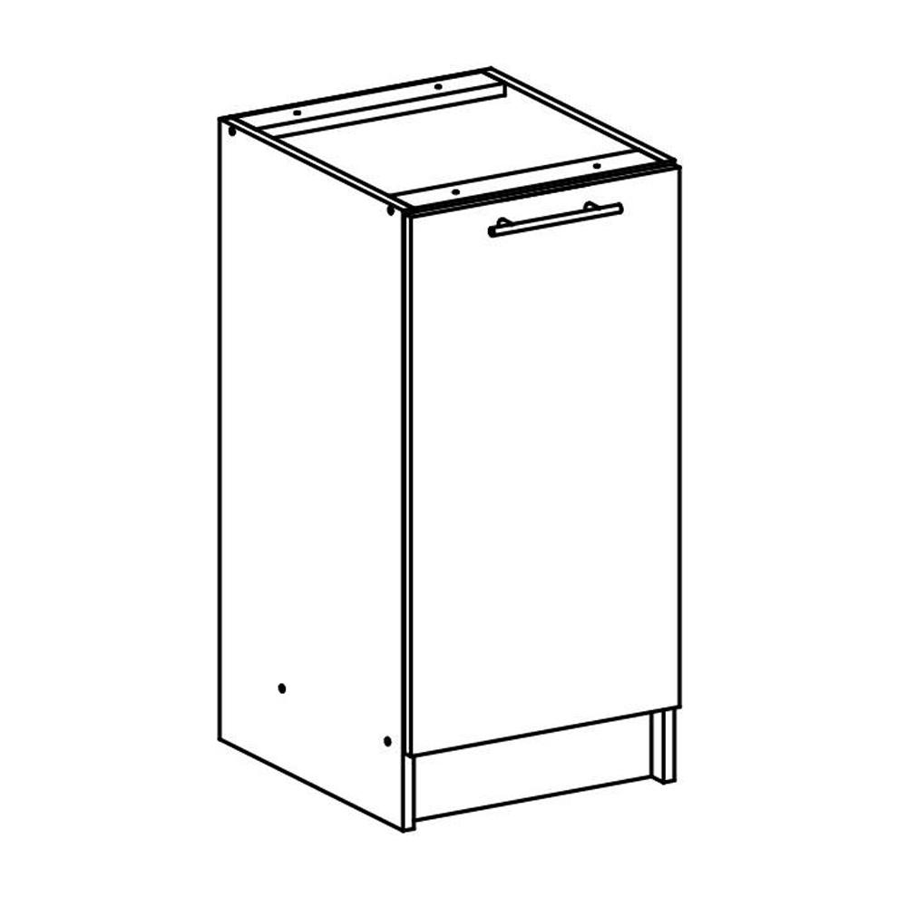 Dulap inferior, stejar sonoma/alb, FABIANA S - 40