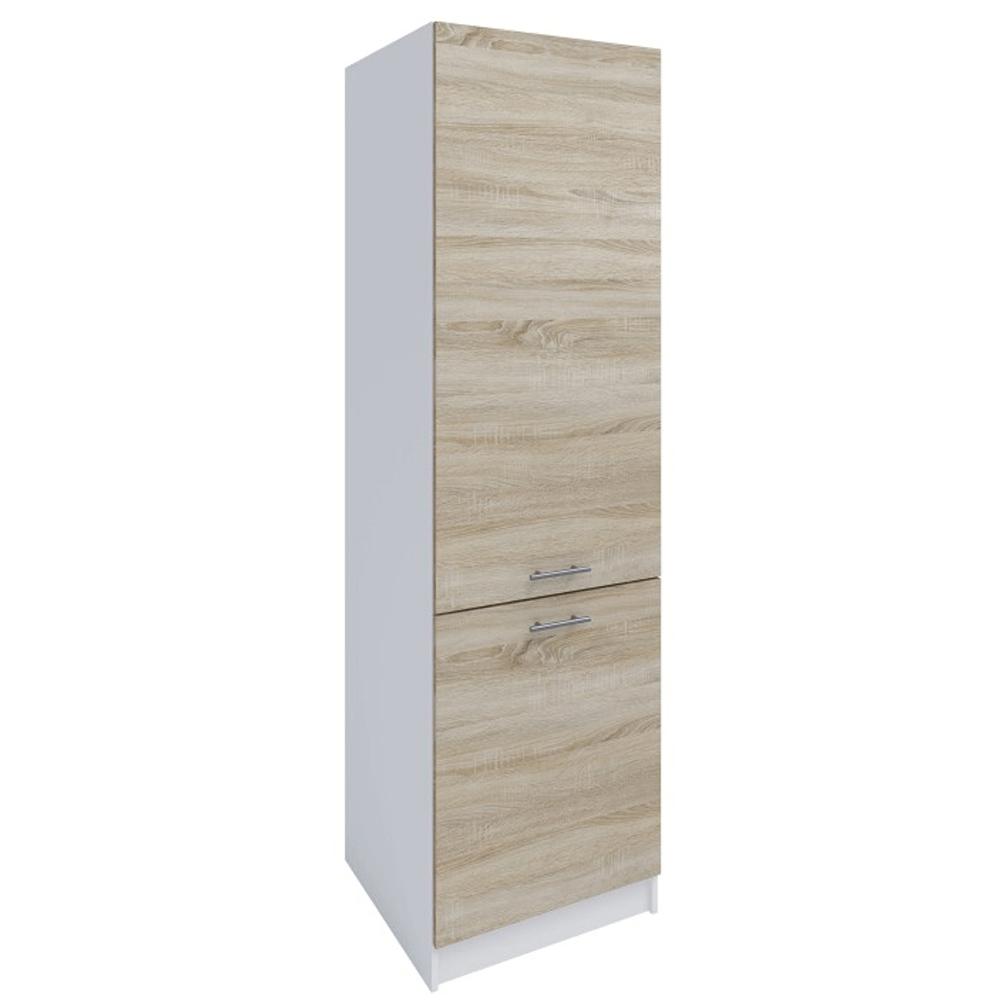 Dulap pentru produse alimentare, stejar sonoma/alb, deschidere stânga, FABIANA S - 60/210