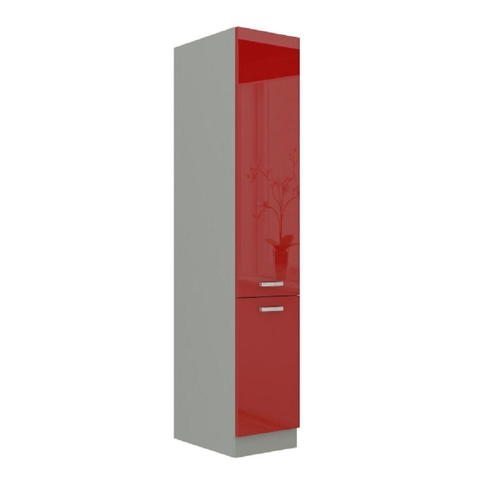 Magas élelmiszer szekrény, piros magas fényű, PRADO 40 DK-210 2F