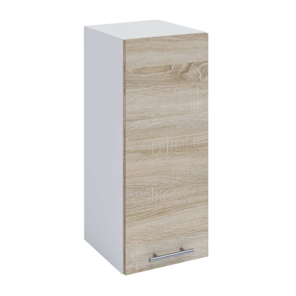 Dulap superior, stejar sonoma/alb, FABIANA W - 30