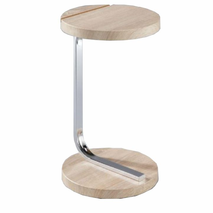 Príručný stolík na tablet, dub sonoma, MILANA, na bielom pozadí