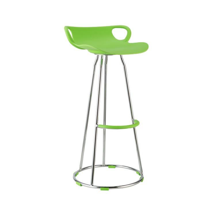 Barová stolička, zelená/chróm, GLADI