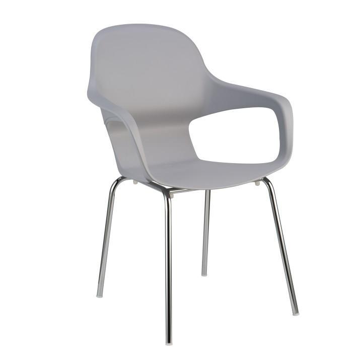 Stolička, sivá/chróm, DORIEN