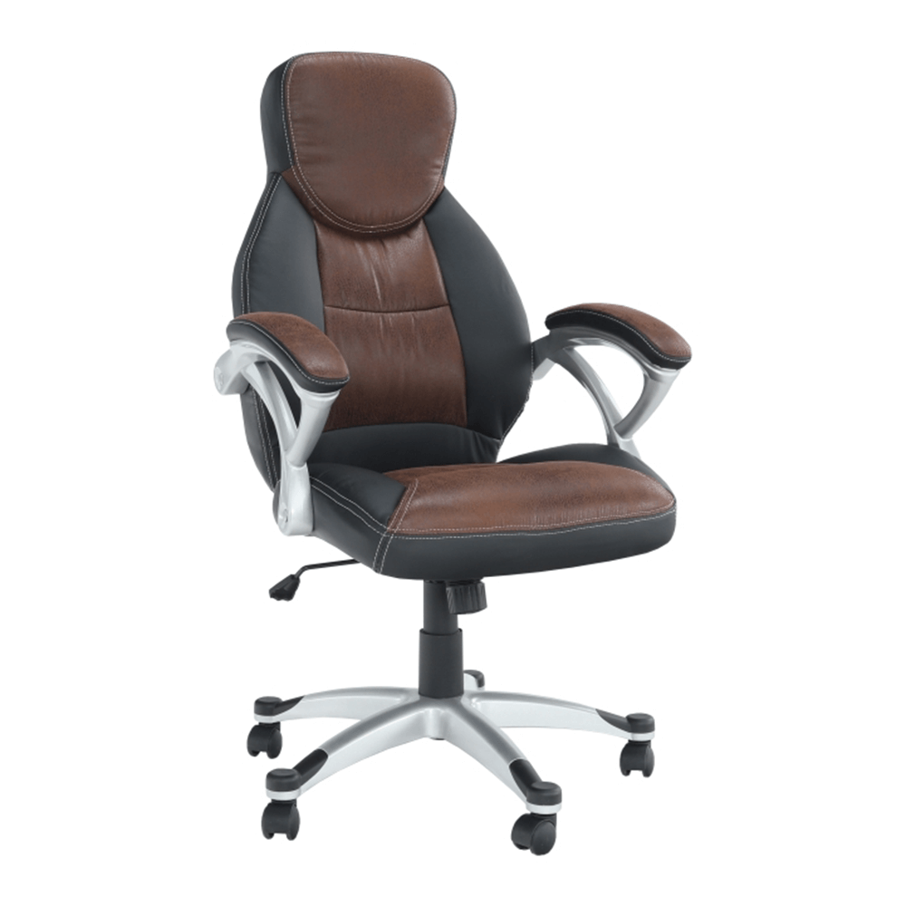 Irodai szék, barna/fekete, ICARUS