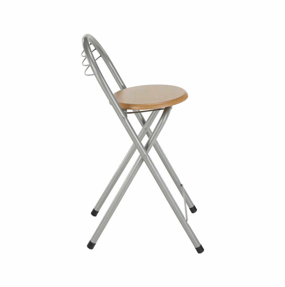 Barová stolička, buk/chróm, BOXER