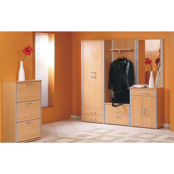 Spodná skrinka, buk, strieborná, interiérová ilustračná fotka, LISSI TYP 06