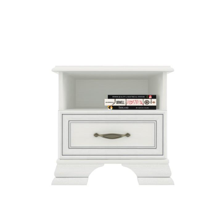 Nočný stolík 1s, DTD laminovaná, woodline krem, TIFFY, na bielom pozadí