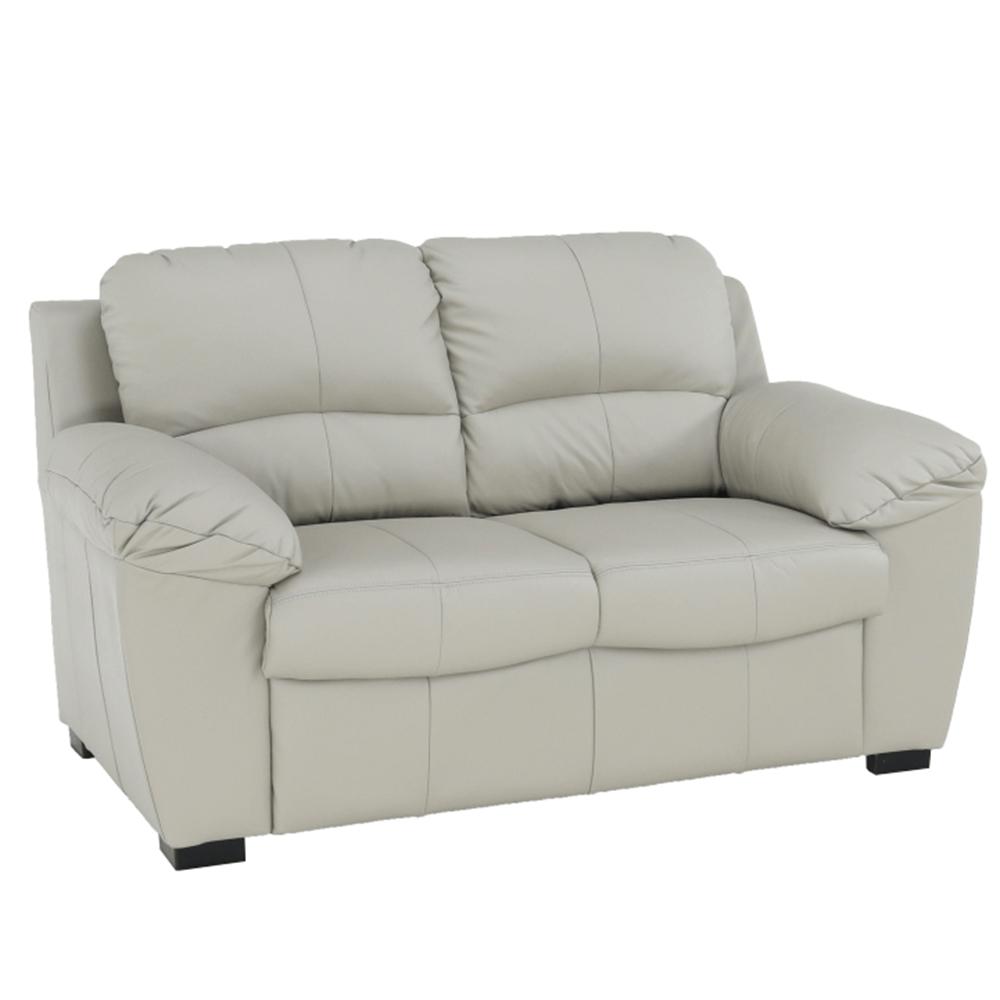 Bőr 2 személyes kanapé, bőr pampas hellgrau M9010, DANILO