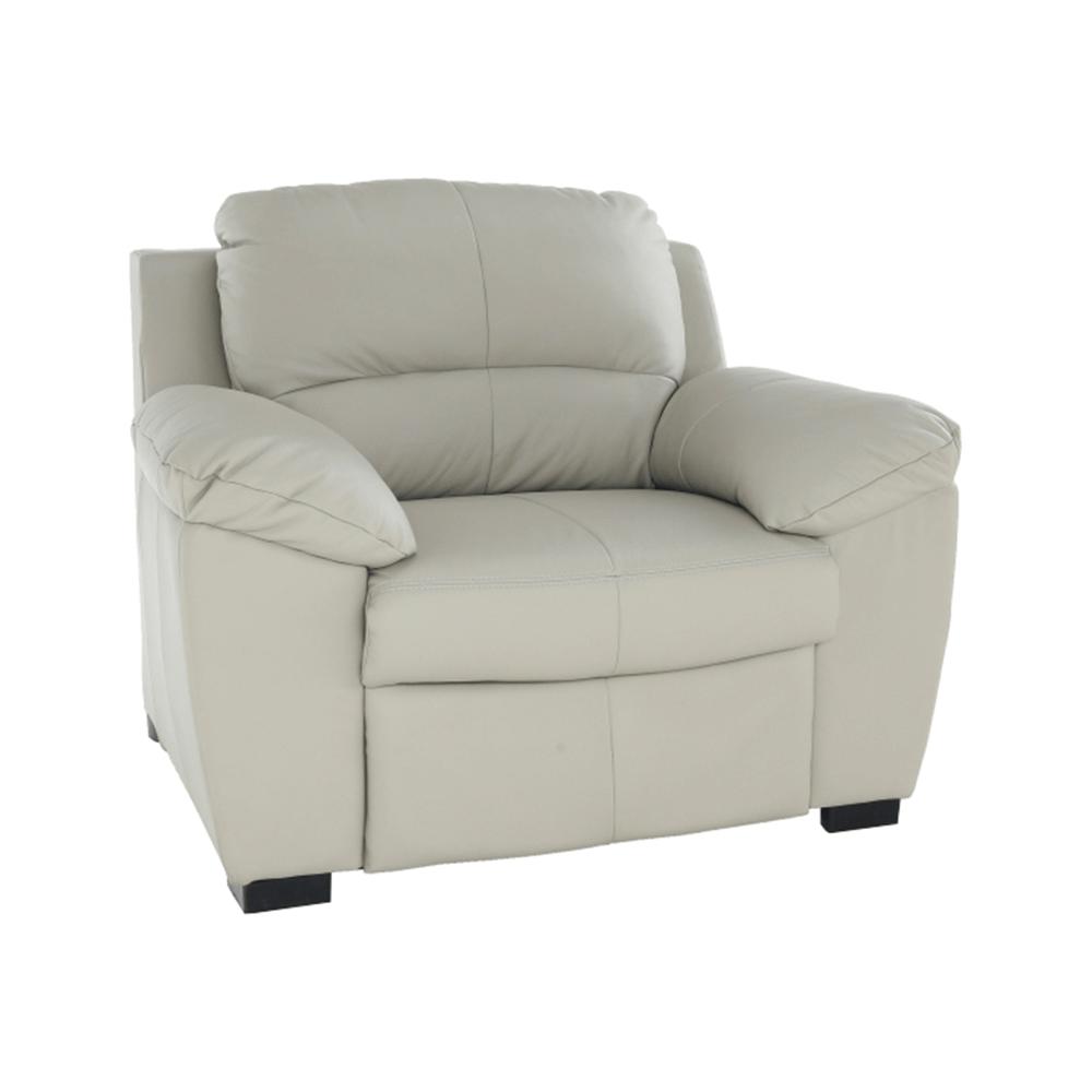 Bőr fotel, Bőr pampas hellgrau M9010, DANILO