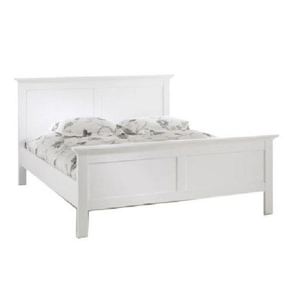 Ágy, fehér, 180x200, PARIS