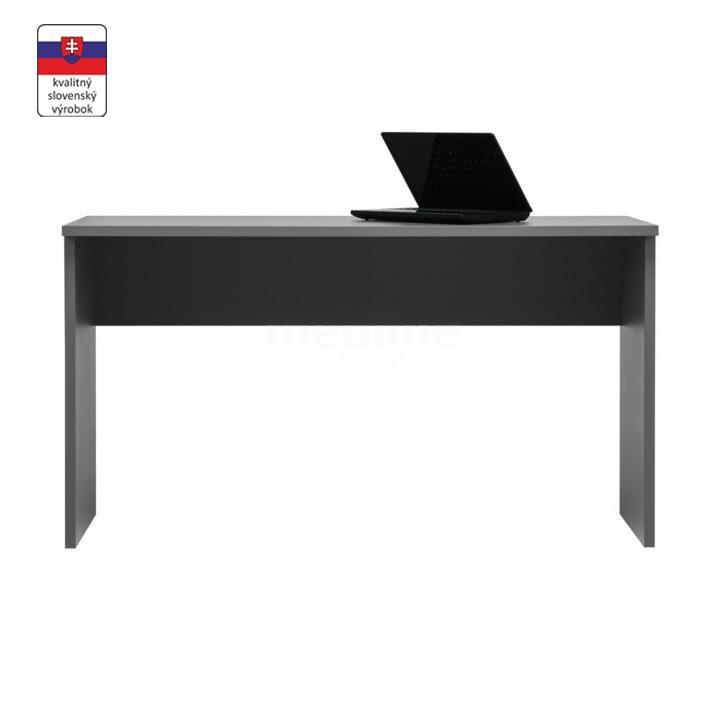 Písací stôl, DTD laminovaná, sivá grafit, na bielom pozadí, MARSIE