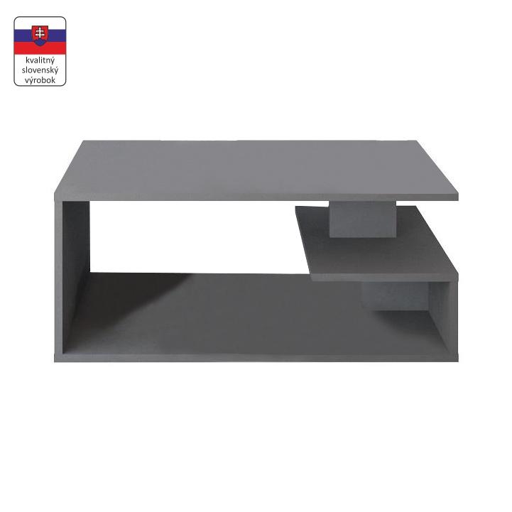 Konferenčný stolík, DTD laminovaná, sivá grafit, na bielom pozadí, MARSIE