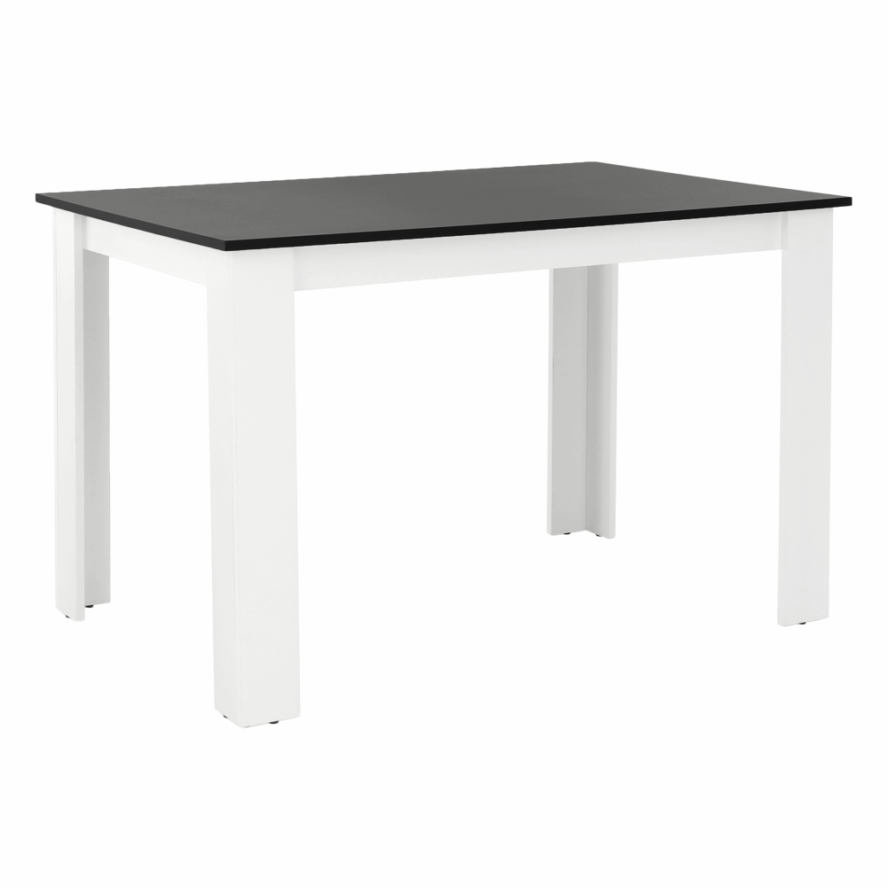 Masă dining, alb/negru, 120x80, KRAZ