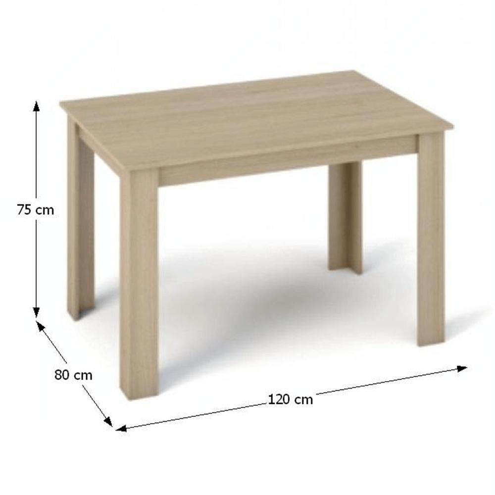 Masă dining, stejar sonoma, 120x80, KRAZ