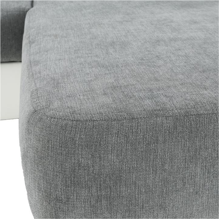 Roh malý L, ekokoža biela/látka Matrix 16 sivá, SANTIAGO, detail na poťah