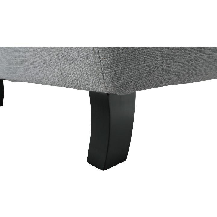 Kreslo, látka/masív, sivá/čierna, SILVAN, detail na nožičky