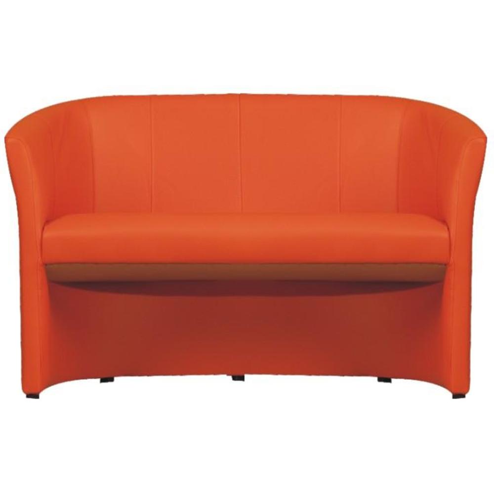 Klub dupla fotel, narancssárga textilbőr, CUBA