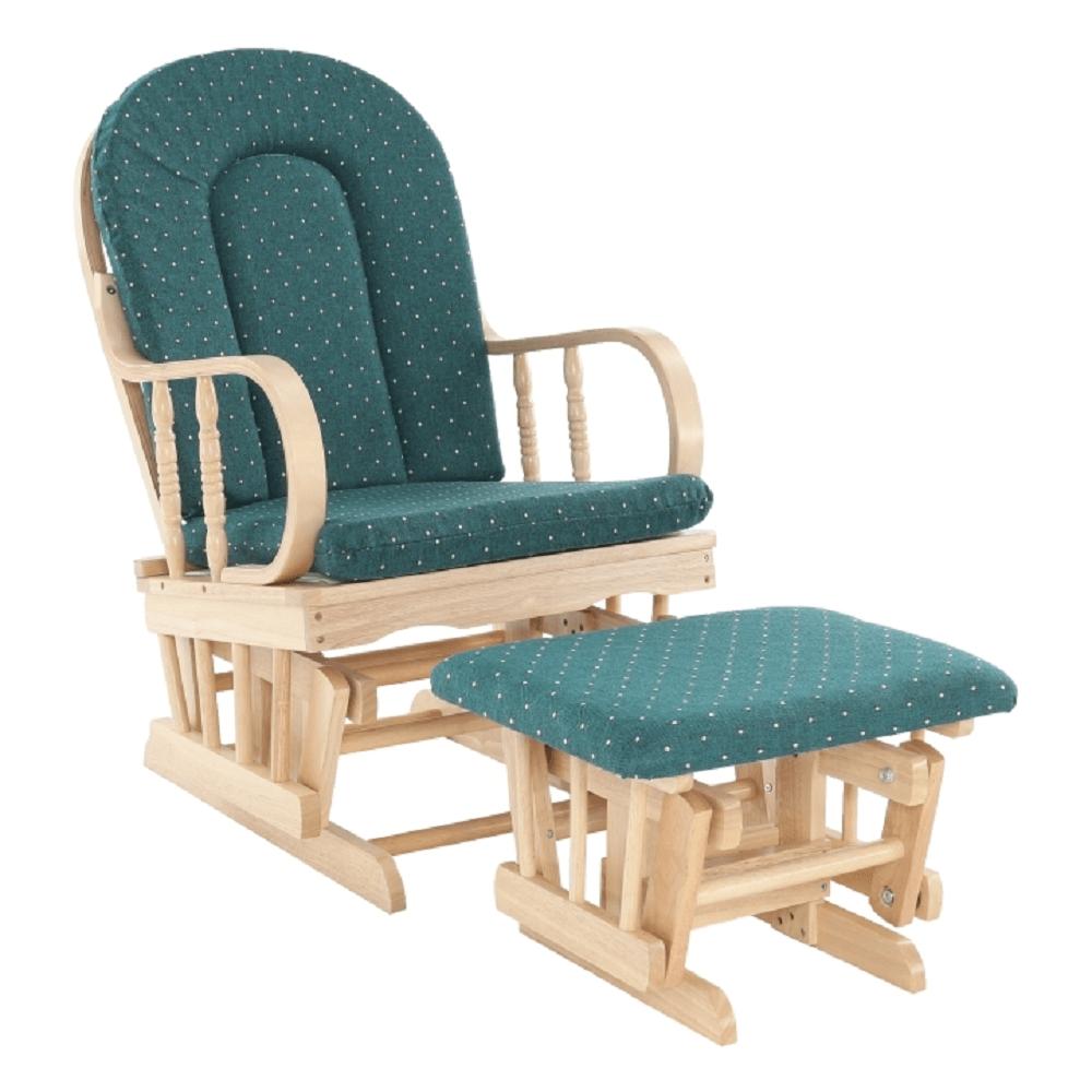 Fotoliu relaxant, material lemn de fag verde, RELAX GLIDER 87107