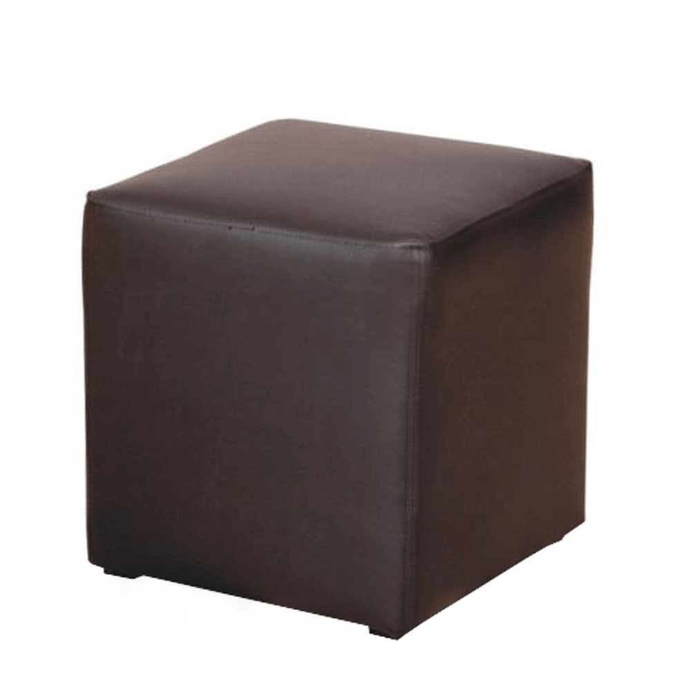 Taburet, piele ecologică neagră, KUBIK