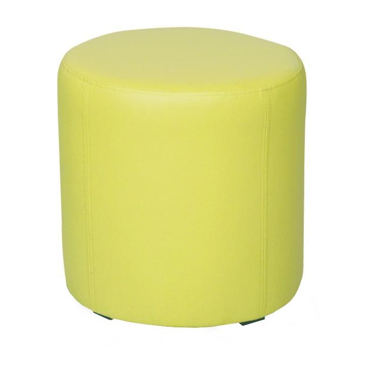 Taburet, ekokoža zelená, TOP 45, na bielom pozadí