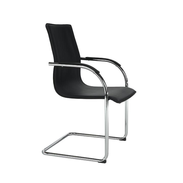 Stolička, ekokoža čierna, MI-01, pohľad z boku