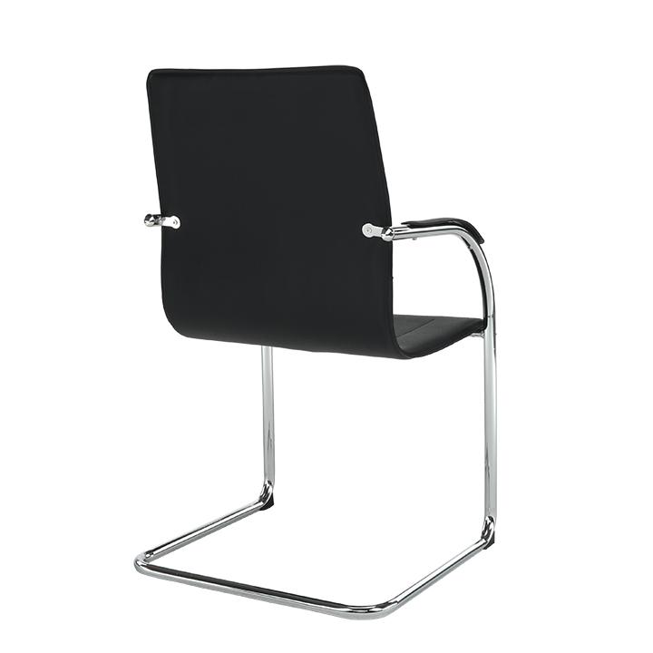 Stolička, ekokoža čierna, MI-01, pohľad zo zadu