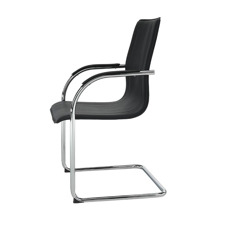 Stolička, ekokoža čierna, MI-01, detail z boku