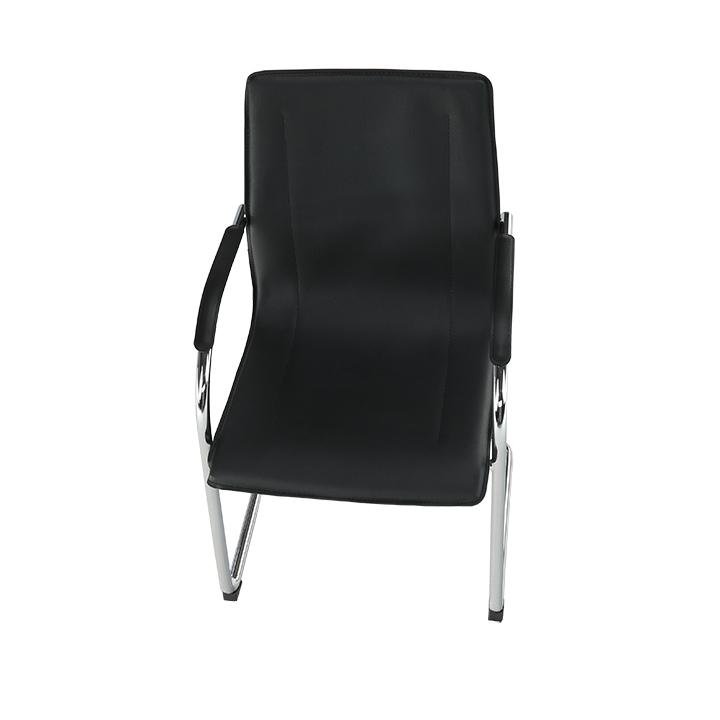 Stolička, ekokoža čierna, MI-01, detail z hora