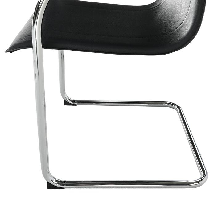 Stolička, ekokoža čierna, MI-01, nožičky