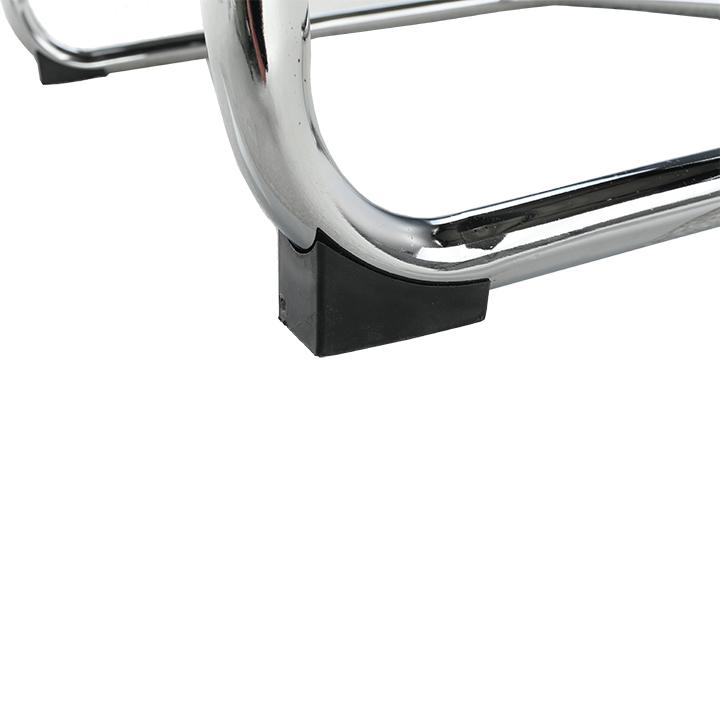 Stolička, ekokoža čierna, MI-01, detail na nožičky