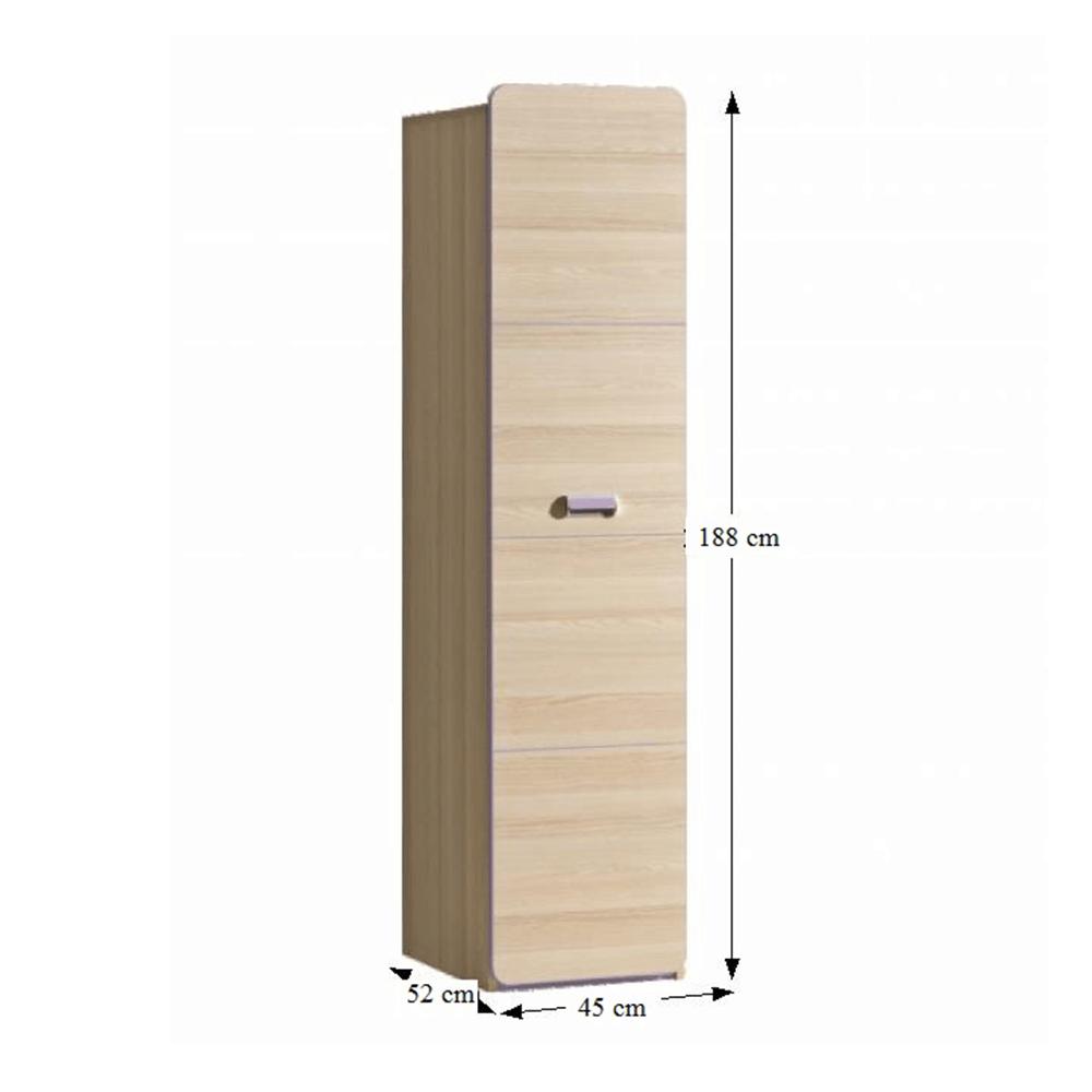 Dulap cu rafturi, frasin/violet, EGO L2