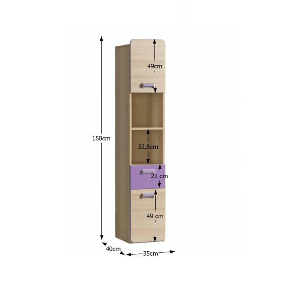 Vitrin, kőrisfa/ibolyakék, EGO L3