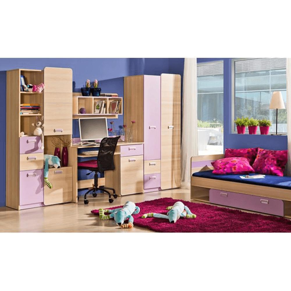 Dulap de colţ, de haine, frasin/violet, EGO L14