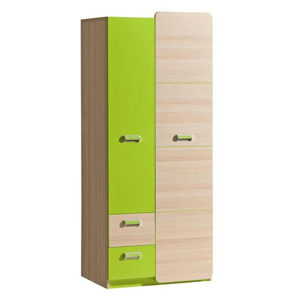 Akasztós szekrény, kőrisfa/zöld, EGO L1