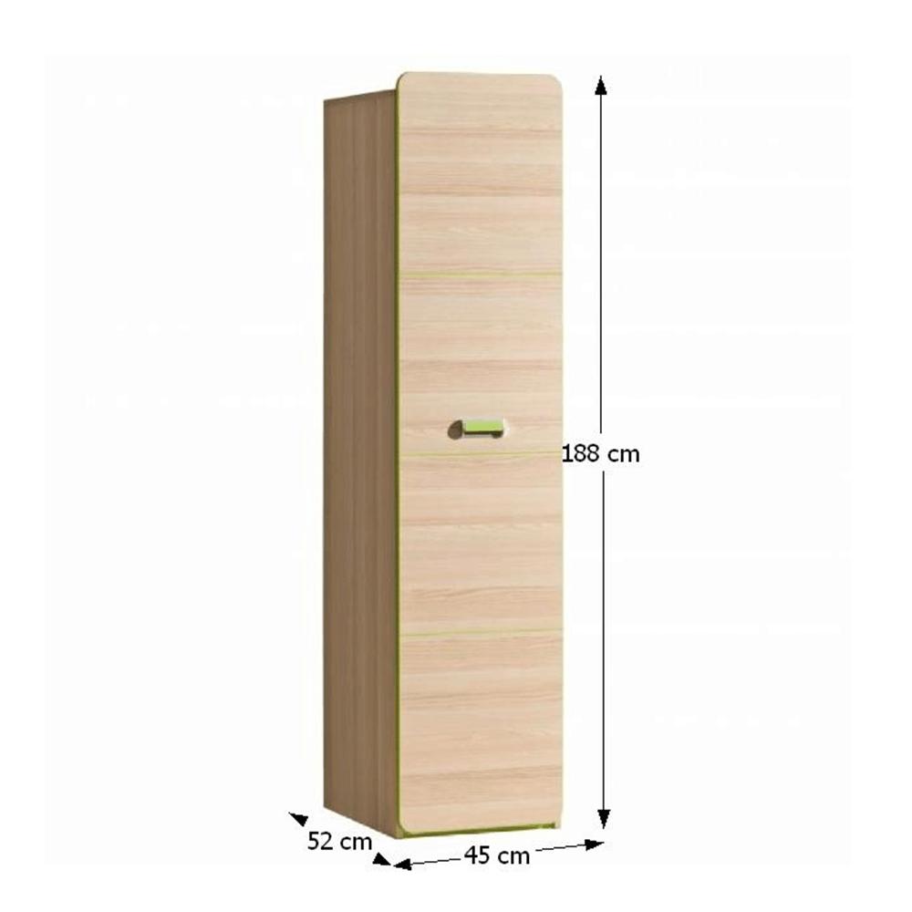 Polcos szekrény, kőrisfa/zöld, EGO L2
