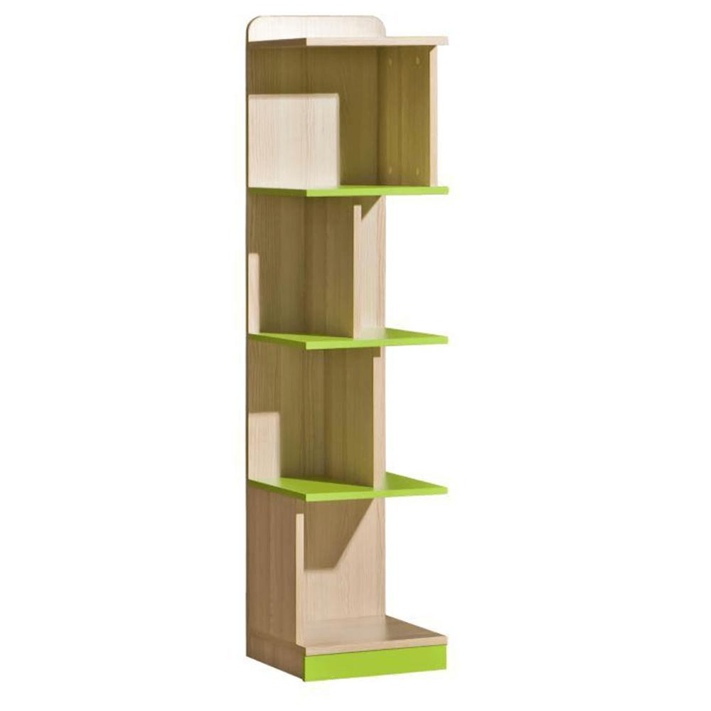Könyvespolc, kőrisfa/zöld, EGO L15