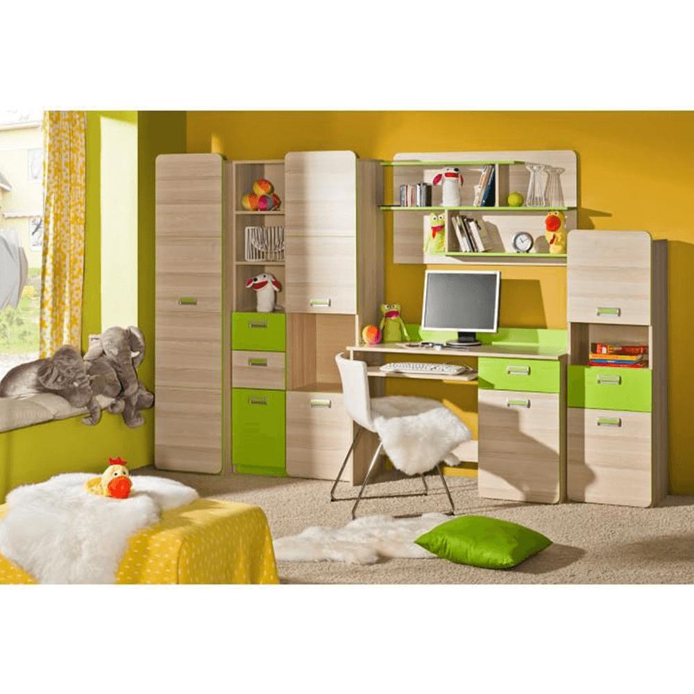 Dulap de colţ, de haine, frasin/verde, EGO L14