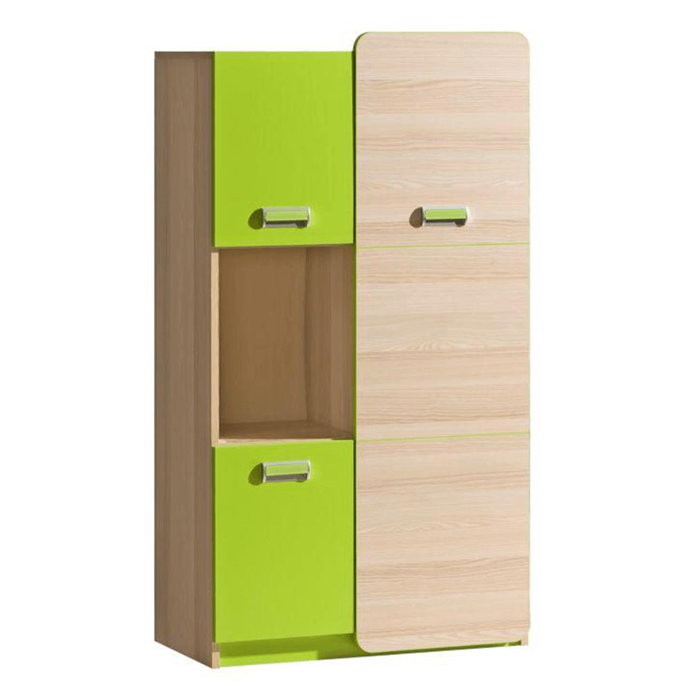 Szekrény, kőrisfa/zöld, EGO L5