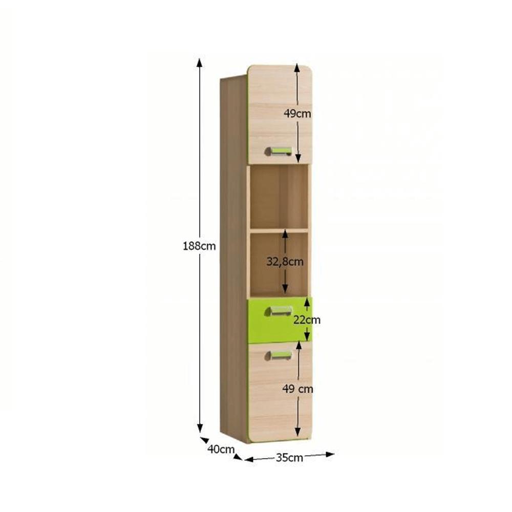 Vitrină, frasin/verde, EGO L3