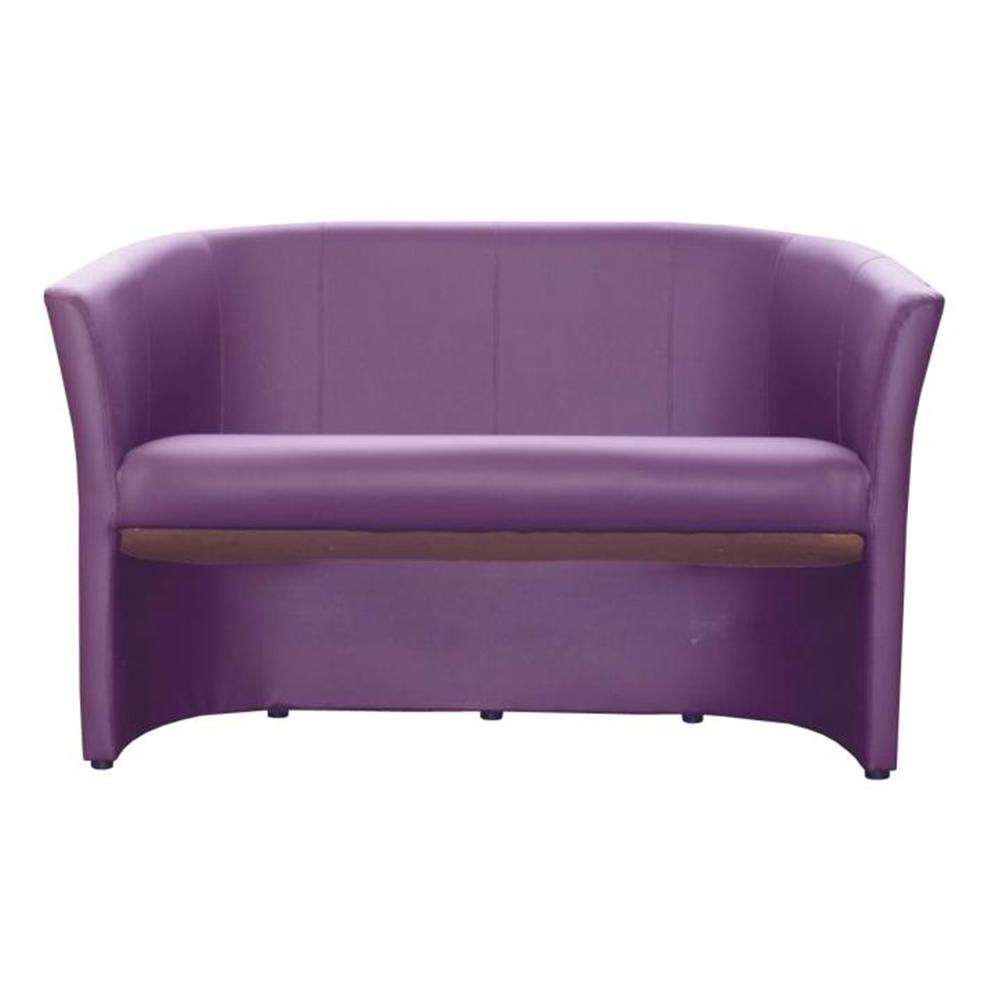 Dupla fotel, textilbőr ibolyaszínű, CUBA