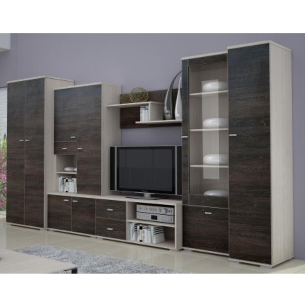 Nappali szekrénysor, kőrisfa/amerikai tölgyfa, ARS
