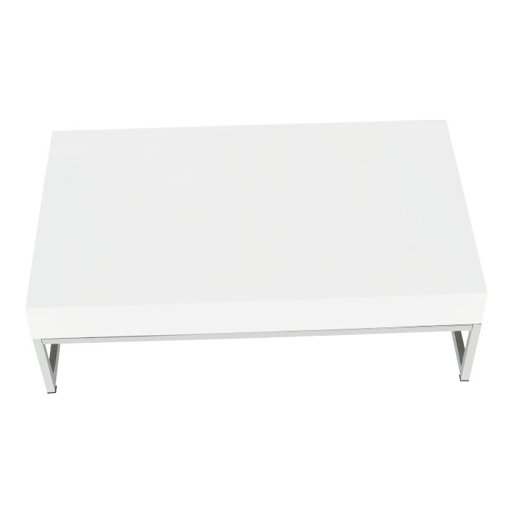 Konferenčný stolík, biela extra vysoký lesk HG, LOTTI, pohľad z hora