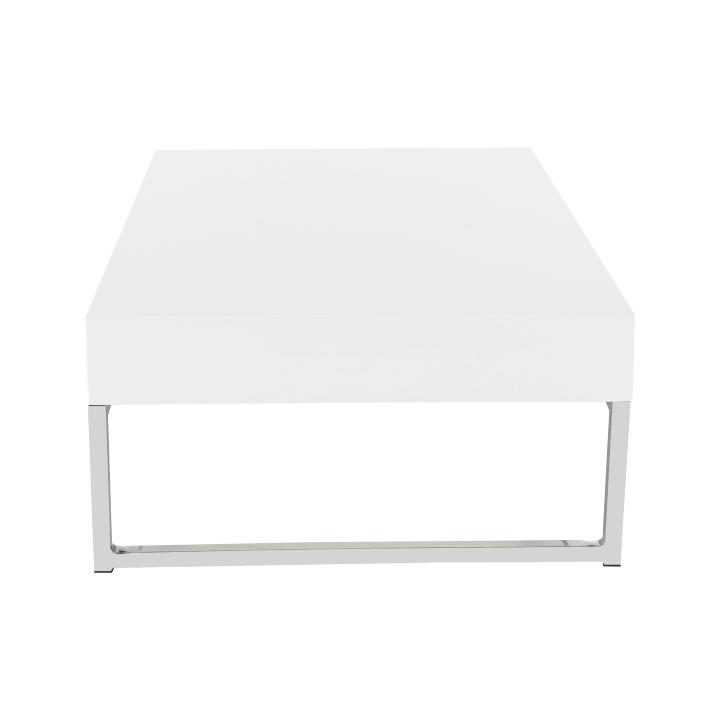 Konferenčný stolík, biela extra vysoký lesk HG, LOTTI, detail z predu