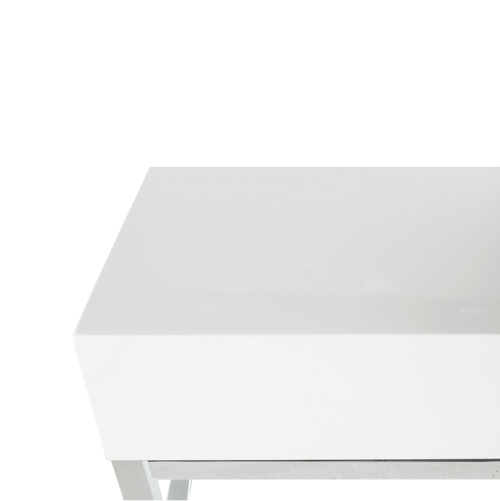 Konferenčný stolík, biela extra vysoký lesk HG, LOTTI, plát stola