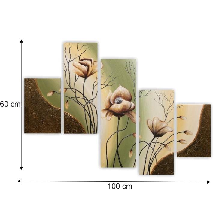 Obraz, ručne maľovaný, 100x60 cm, PN 00002R - rozmer