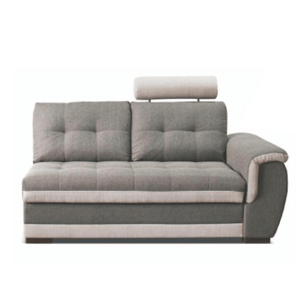 2-személyes kanapé rakodótérrel és fejtámlával, jobbos, szövet Inari 91 szürke + Inari 22 bézs, RUBA
